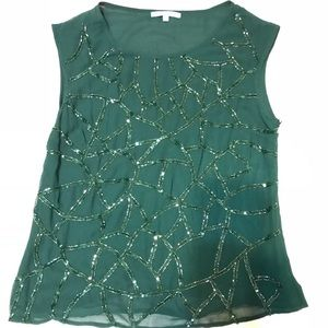 ANTONIO MELANI Tops - Antonio Melani green sequined blouse size large